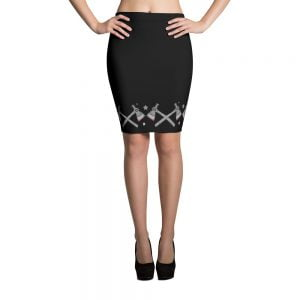 Axe Gang pencil skirt