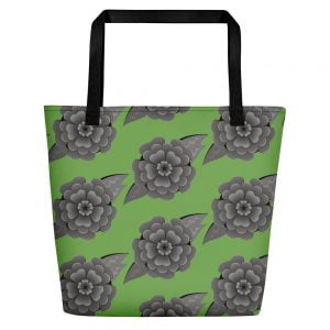 green headstone flower bag