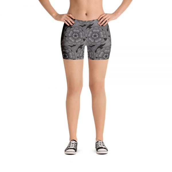 goth flower work out shorts