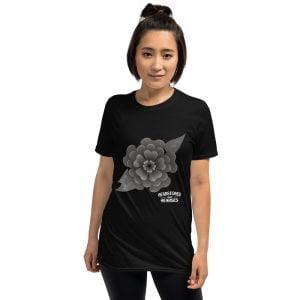 Goth flower t-shirt
