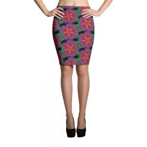 Hawaiian flower pencil skirt