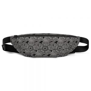 grey headstone flower fanny pack
