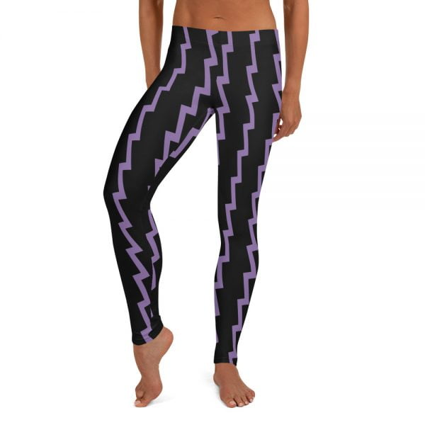 purple zap leggings
