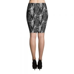 spider web pencil skirt