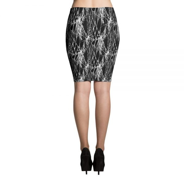 spider web pencil skirt