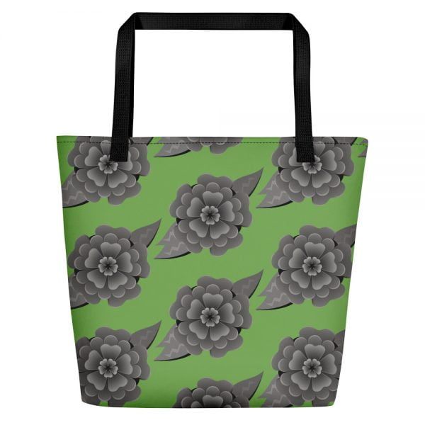 green headstone flower bag