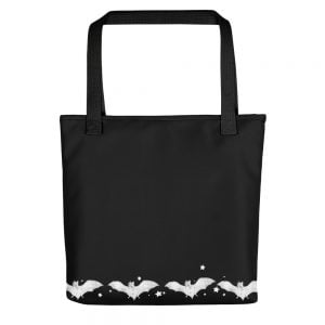 bats and stars tote bag