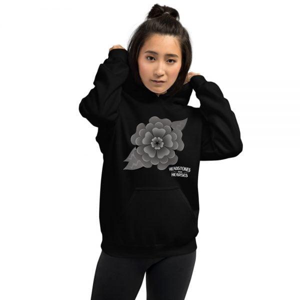 Goth flower hoodie