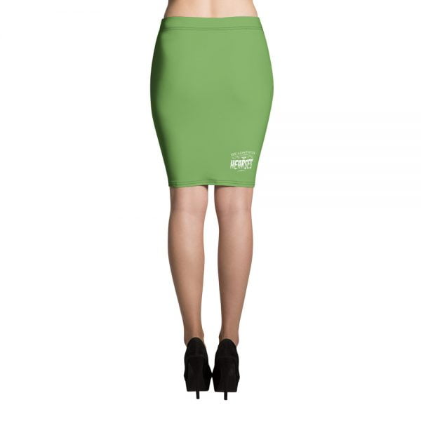 green Black Bat pencil skirt