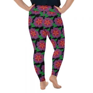 Hawaiin flower plus size leggings