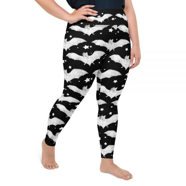 Bats and Stars plus size leggings