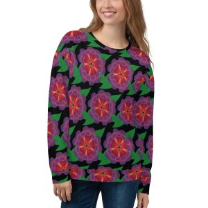 Hawaiian flower allover print sweatshirt