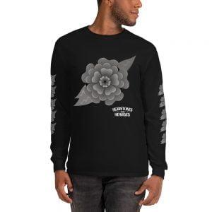 Goth flower long sleeve shirt
