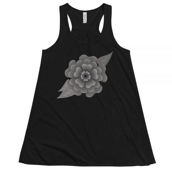 grey headstone flower tank top
