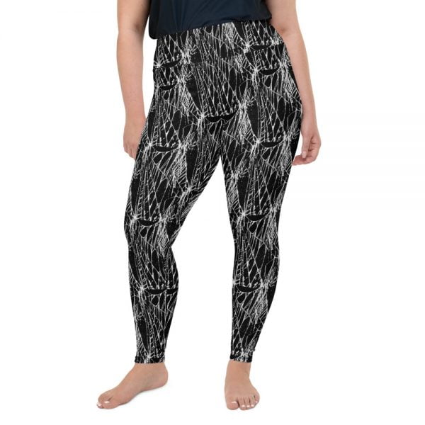 plus size spider web leggings