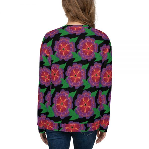 Hawaiian flower allover print sweatshirt