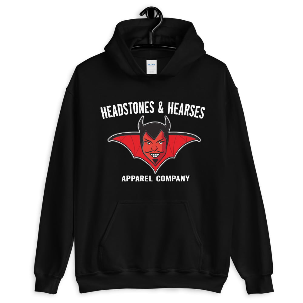 devil face logo hoodie