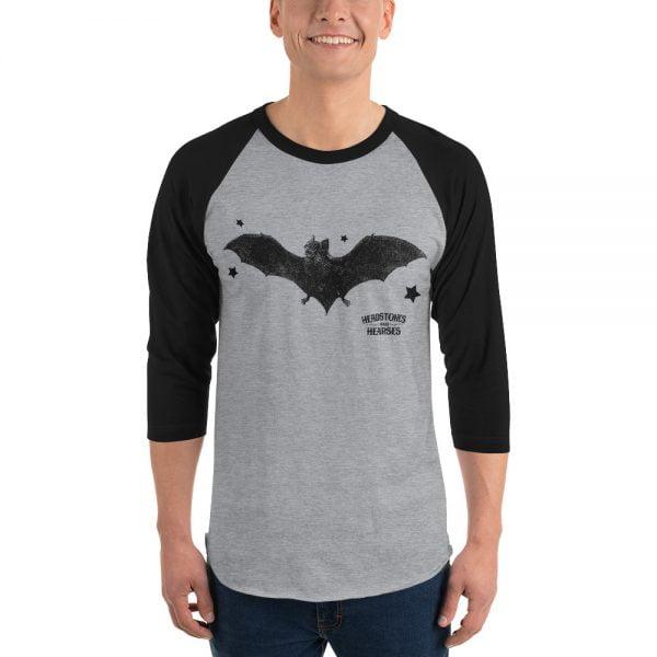 Goth Bats baseball shirt