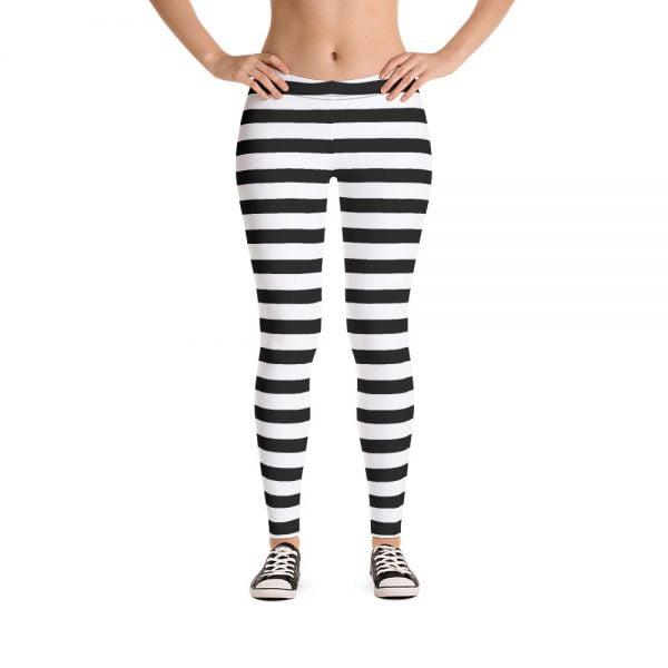 Striped Spandex Leggings