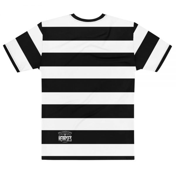 beatnik stripe with skull t-shirt - back