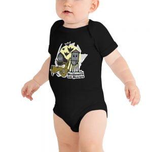 Baby Goth Wolfs Head onesie