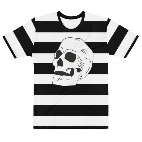 beatnik stripe with skull t-shirt - front