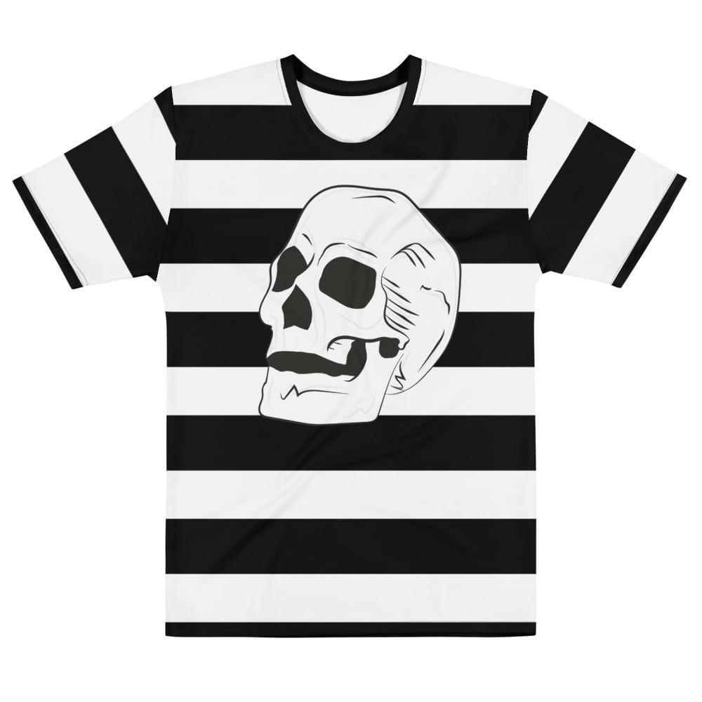 beatnik stripe with skull t-shirt - front