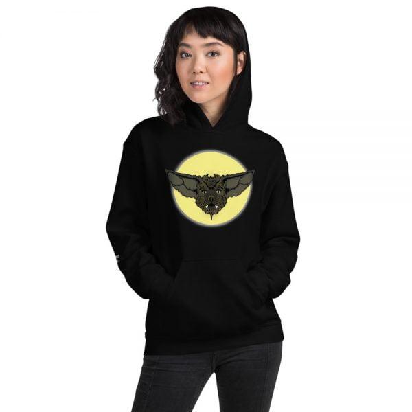 Cute cartoon bat face hoodie