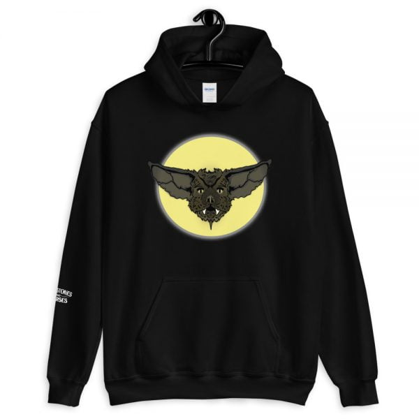 cartoon bat face hoodie