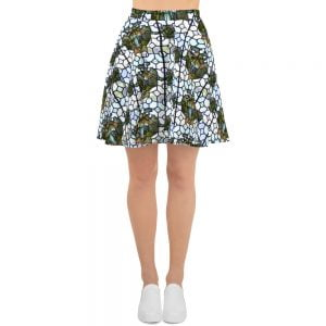 stained glass skater skirt
