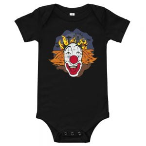 Crazy Clown Face baby onesie jumper