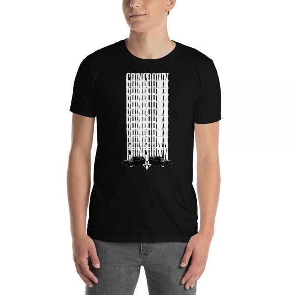 going down hearses black t-shirt