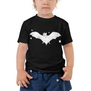 Black bat toddler t-shirt