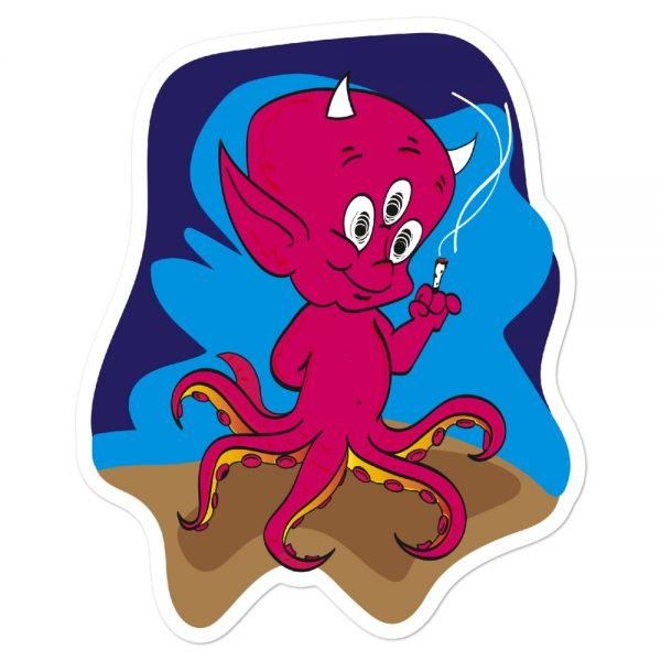 Octo Devil smoking sticker