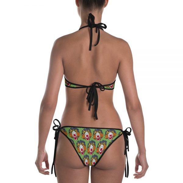 Crazy Clown two piece bikini fun bathing suit