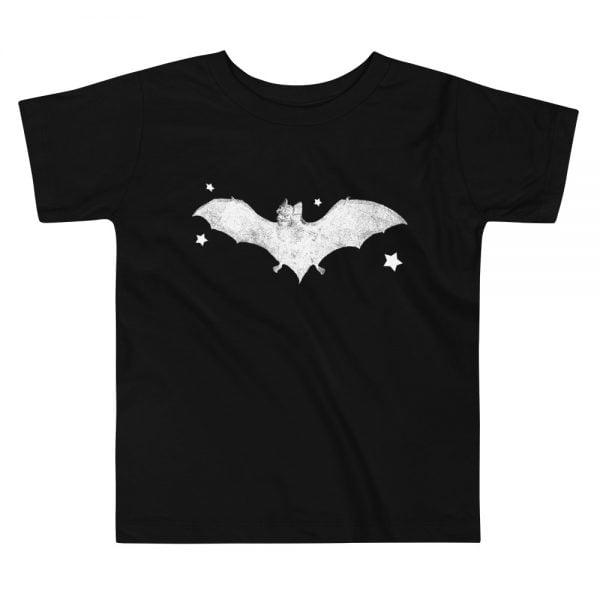 Black bat toddler t-shirt