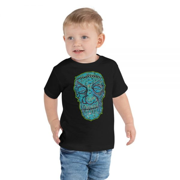 Zombie face toddler t-shirt