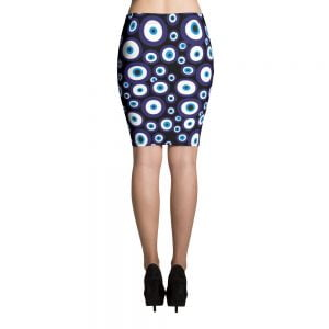 black nazar evil eye pecil skirt