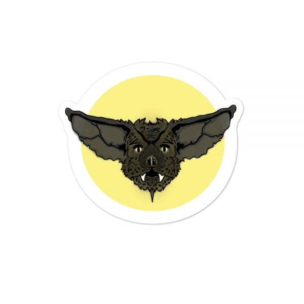 Bat Face illustration sticker
