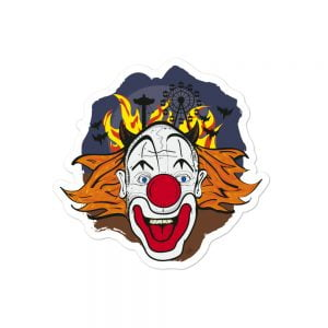 crazy clown face stickers
