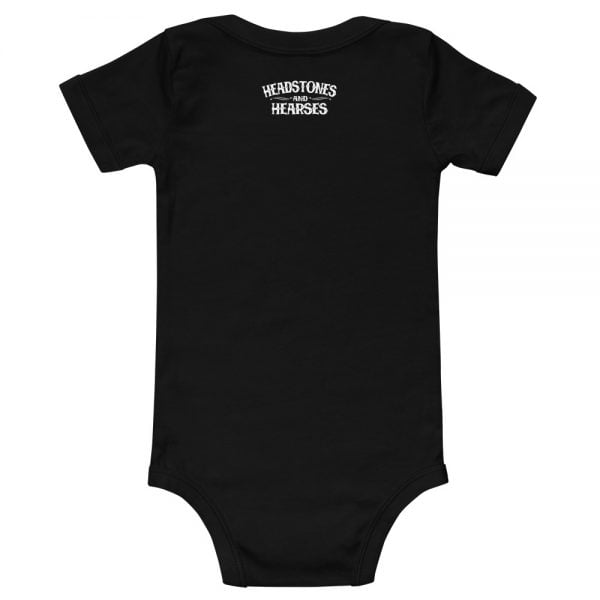 toddler onesie logo back top middle