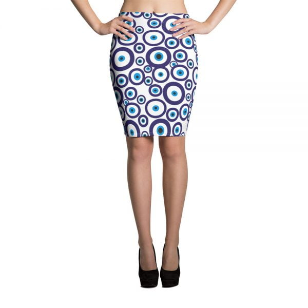nazar evil eye pecil skirt