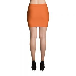 black and orange vampire bat retro mini skirt