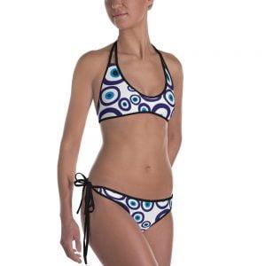 nazar evil eye two piece bikini bathing suit