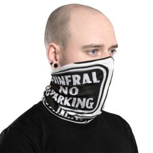 funeral no parking face mask neck gaiter