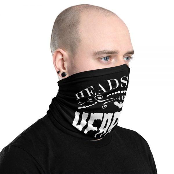 headstones and hearses logo neck gaiter
