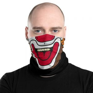 clown face neck gaiter facemask