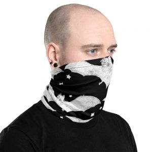 BATS black neck gaiter face mask