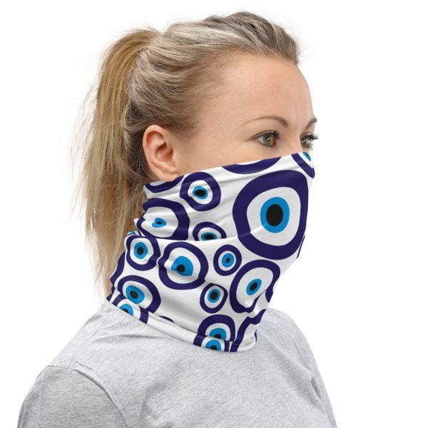 evil eye nazar face mask neck gaiter