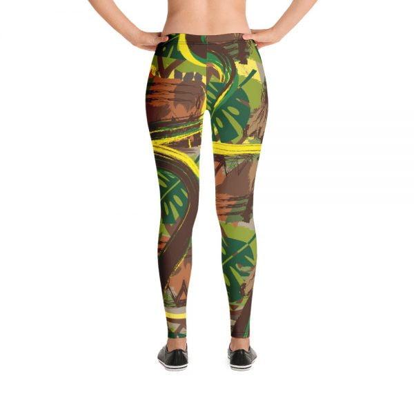 tapa style earth tone leggings
